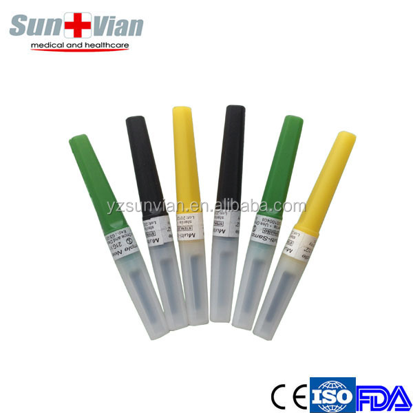 Latex free disposable needles Stainless steel with color code cap