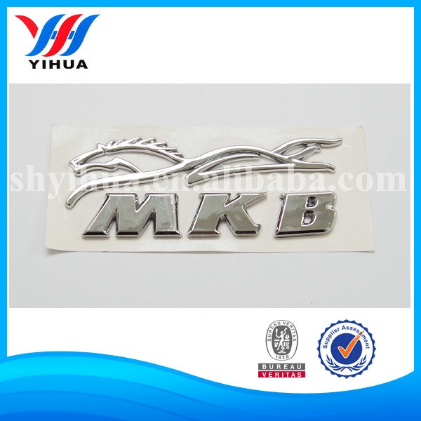 Letter sticker Chrome car stickers self- adhesive letters sticker