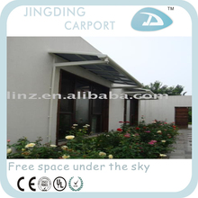 Aluminum shelter for window