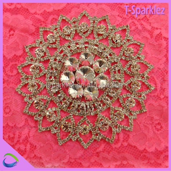 Fashion Sew on Metal Rhinestone Appliques Wholesale Wedding Decoration