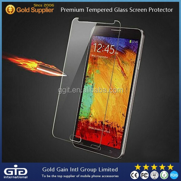 Hot Sell Screen Protector for Note 3 Anti-Explosion Temper Glass 9H Hardness