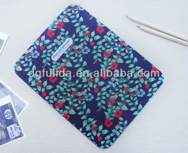 colourful mouse pad high grip rubber