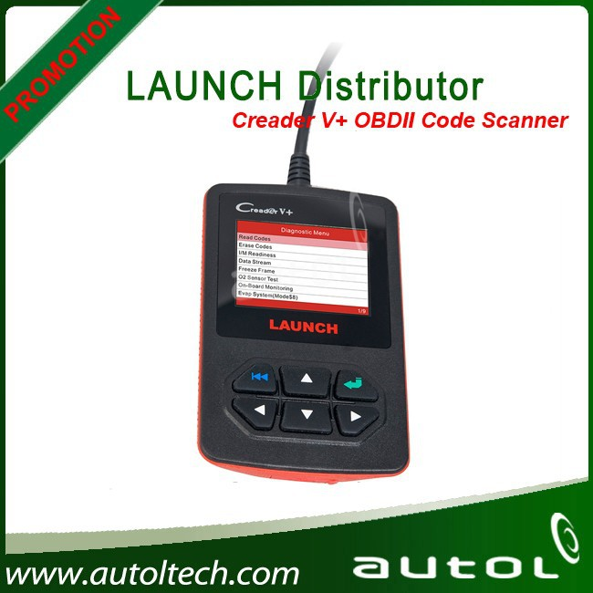 2015 Brand New Creader V + Fault Code Reader with Soft Silicone keys Launch Creader 5 with USB cable connect to PC