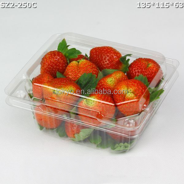 small Clear plastic strawberry packaging box plastic fruit box