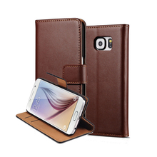 Real Genuine Wallet Book Leather Phone Case For Samsung Galaxy S9 S8 Plus S7 S6 Edge PC Back Cover
