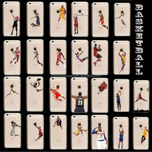 Basketball Player Jordan plastic hard clear printed phone case for iphone 6