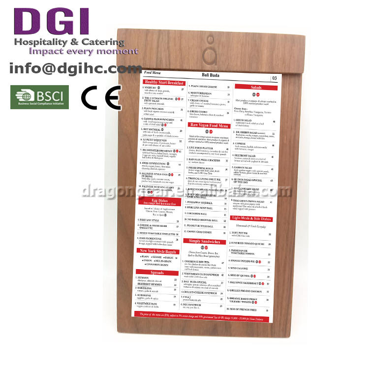 Top quality magnetic clip holder for menu display
