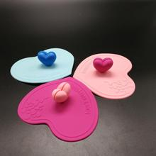 promotional silicone cup cover, cute silicone lid
