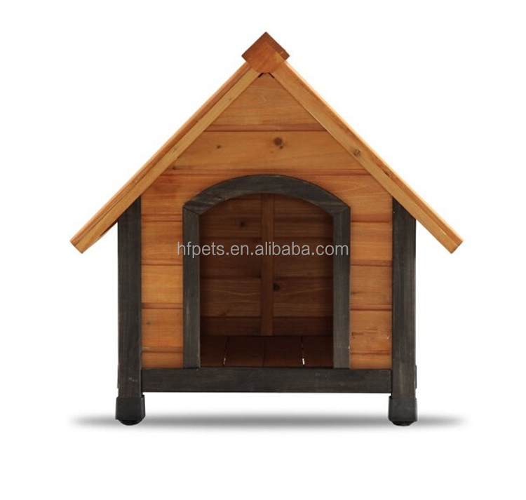 Cheap Dog Cage Wooden Dog House(with Dark Frame)