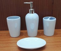 OEM and ODM new design cheap price ceramic bath 4pcs gift set for sale bathroom accessories