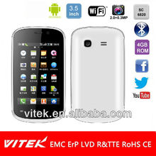 Single Core SC6820 1GHz 3.5 inch HVGA Android 2.3 Smart phone