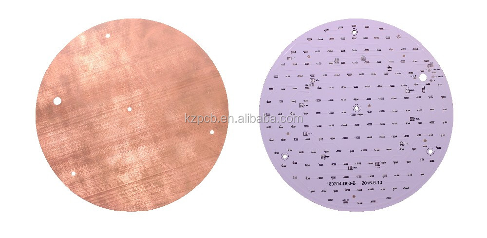 Cheap OEM Manufacturing Electronics Components Aluminum Printed Circuit Boards Design 1 Layer Copper Base Board LED Round PCB