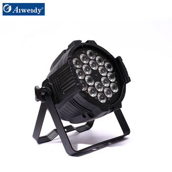 Guangzhou aiweidy high power 6in1 RGBWAV par led 18x18,led mini par lights