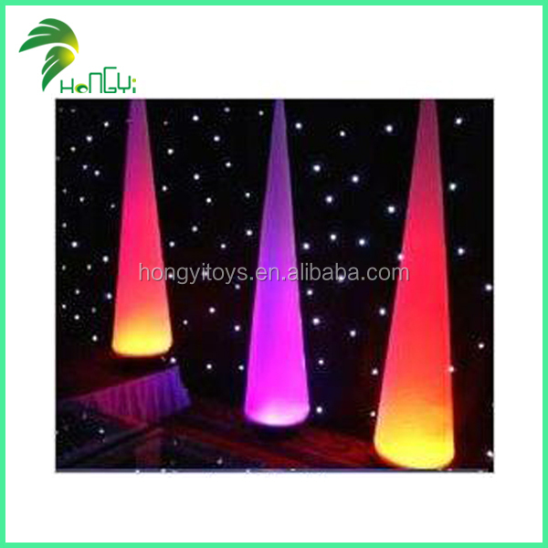 Hot Selling Wedding Led Lighting Inflatable Ivory Balloon , Colorful Inflatable Cone For Decorations