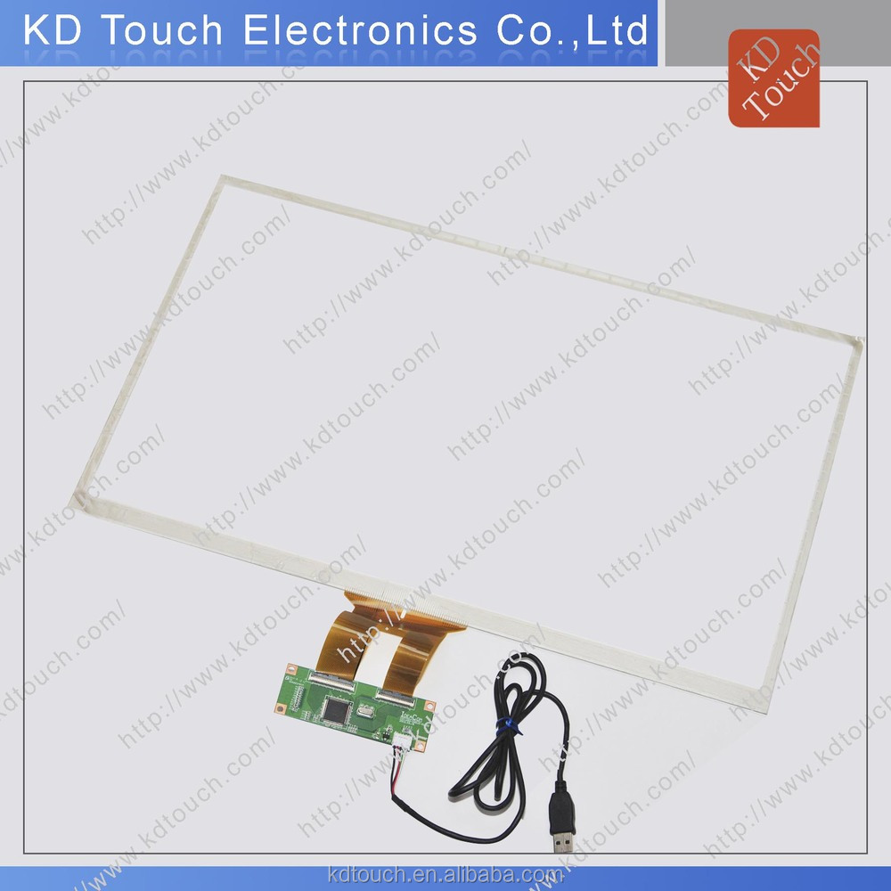 usb interface touch screen panel kit with overlay and bezel