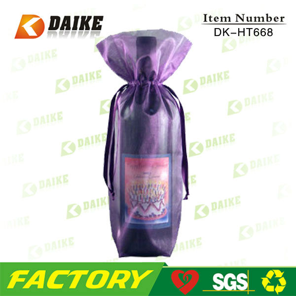 Best Price Manufacturer Organza Fabric Wine Bottle Bags