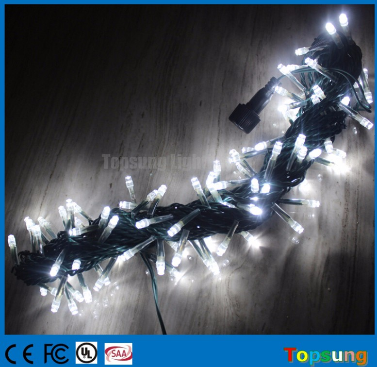 10meter connectable 100 led white led string lights 120v 220V AC
