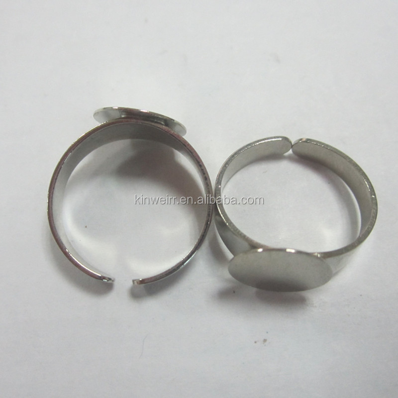 Fashion metal stretch ring bases for jewelry findings