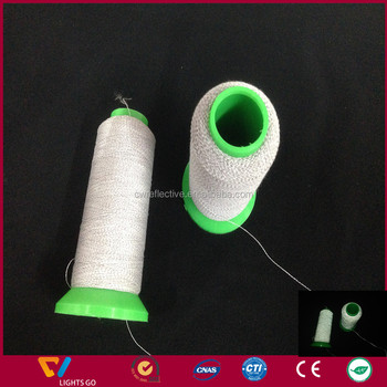 durable high visible 3m reflective embroidery thread for logo
