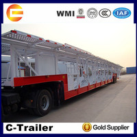 China Famous Brand Tri-axles Transport Car Semi Trailer for 8-10 units