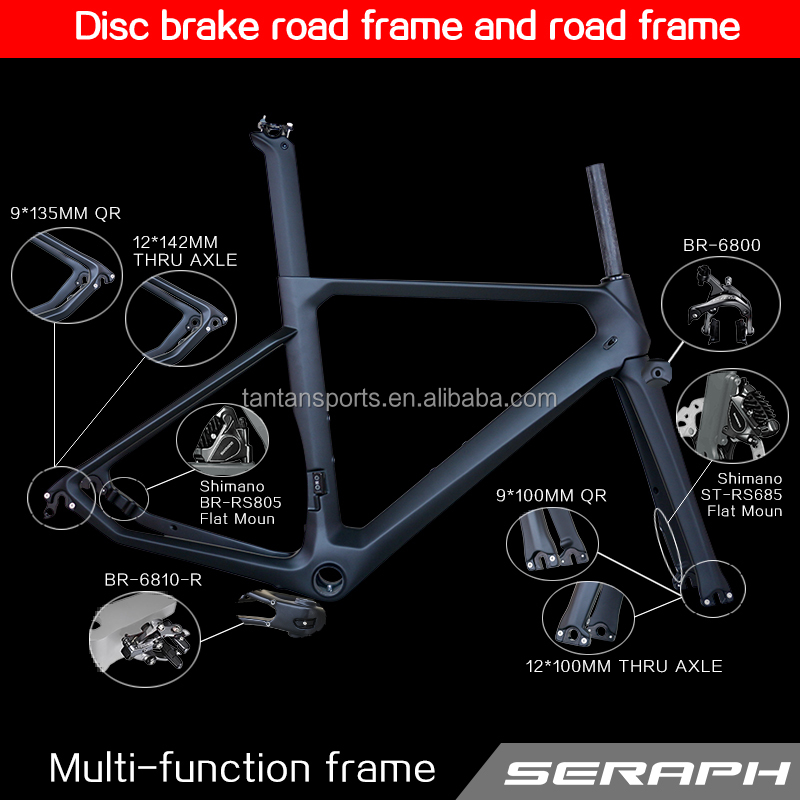 2017 carbon road bike frame disc brake thru axle bike frames TT-X10 front 100*<strong>15</strong> rear 142*<strong>12</strong>