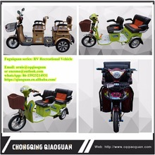 China Sichuan Factory Recreational Electric Tricycle 3 Wheels Bike Trike for Your Family Shopping