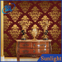 delicate embossed vinyl wallpaper TV background decor luxury wallpaper