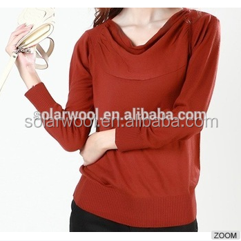Less Odor Superfine Micron Merino Wool Women's Long Sleeve Casual T-shirt