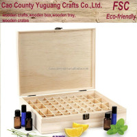 natural pine wooden samll bottle oilstorage oil box