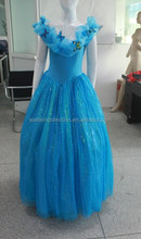 2015 New Movie Sandy Princess Cinderella Dress Cosplay Costume Adult&Girl