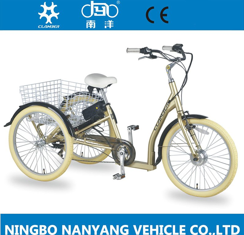 factory directly 24 Inch three wheels steel adult electric tricycle for old people with good price
