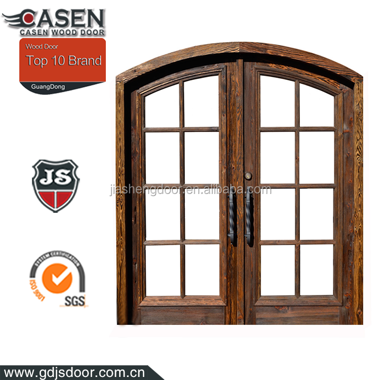 Exterior solid wood arched top french doors design buy for Solid french doors exterior