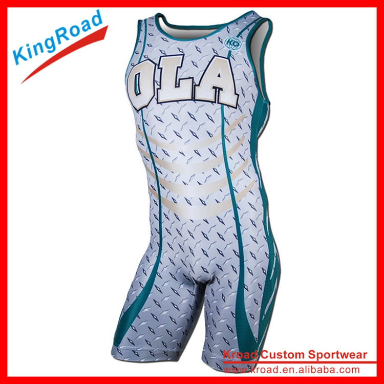 2016 Custom Made Wrestling Wear/Wrestling Singlet/triathlon jersey With Print Logo