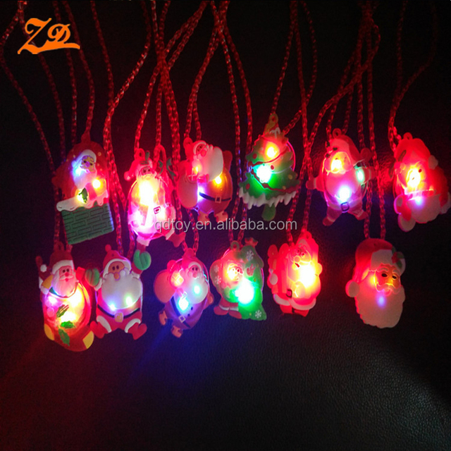 2017 new silicone cheap promotion flash kids LED Christmas necklace