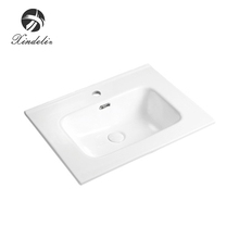 Hot selling rectangular vanity above counter bowl elegant cabinet wash basin sinks bathroom unique