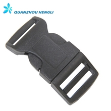1inch 25mm black curved plastic buckle side release buckle
