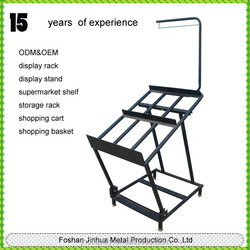 Retails metal powder coating black fruit and vegetable rack for display