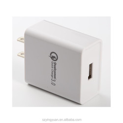 Qualcomm fast usb qc 2.0 3.0 qi wall charger qc3.0 quick charging charger with Qualcomm certification