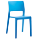 Factory sell stackable garden backrest dining chair modern plastic