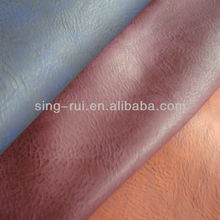 Guangzhou PU Burnished Leather Boots Raw Material(cuerina sitetica)