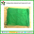 100% PE green drawstring mono date palm mesh bag with UV protection