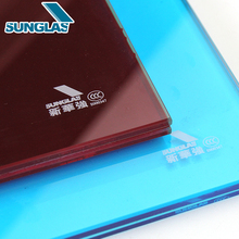 Quality Chinese coloured Tempered glass Factory price 4mm-12mm Stained Cover Floors Bronze Float Colored Laminated Glass