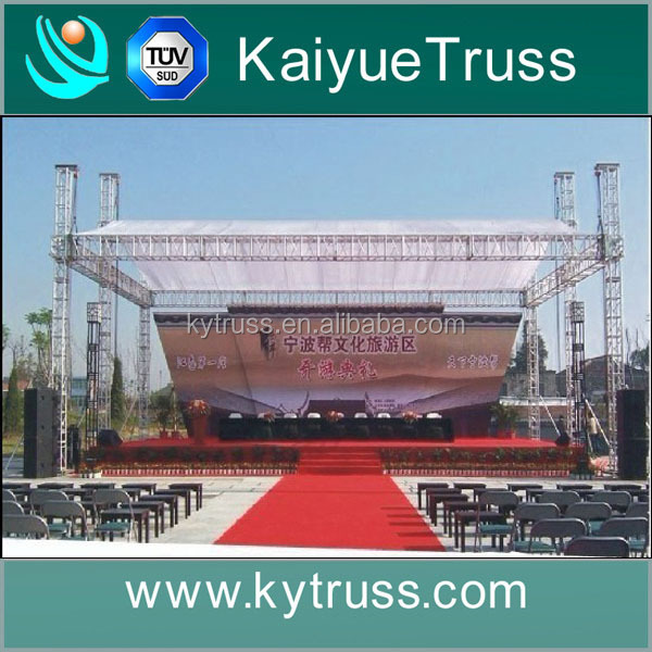 outdoor event aluminum truss canopy stage canopy price