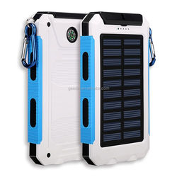 8000mAh solar cell phone charger ac power bank