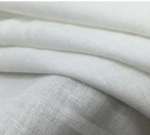 washed linen fabric for garment,100% pure linen fabric