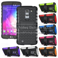 TPU+PC Dual Hybrid Case with Stand for LG Optimus G Pro 2