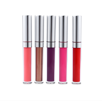 2019 Pro factory sale private label liquid lipstick matte waterproof non stick clear  lipgloss tube containers with brush