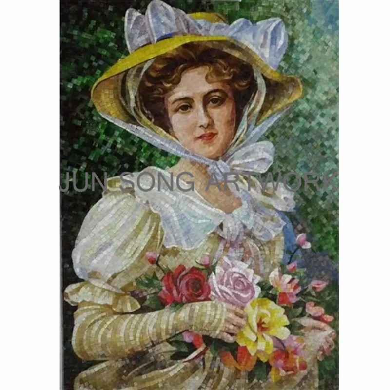 MHP-MD01 Wedding Photo Handmade Glass Mosaic Art Wall Murals Fireplace Decoration Bathroom Tiles Mosaic