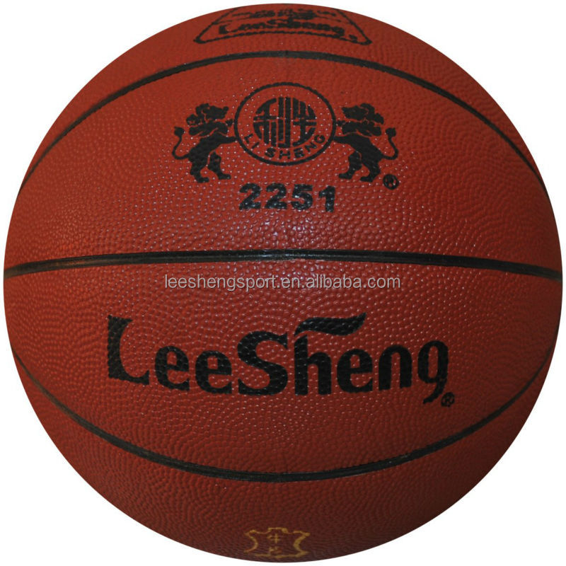 Rubber bladder Cow leather basketball