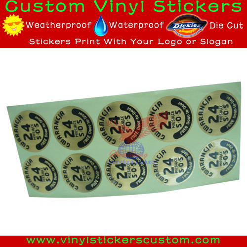 Round Gold Silver Bronze Stickers